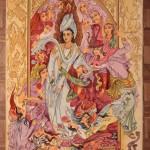 Persian Tabriz Pictorial rug