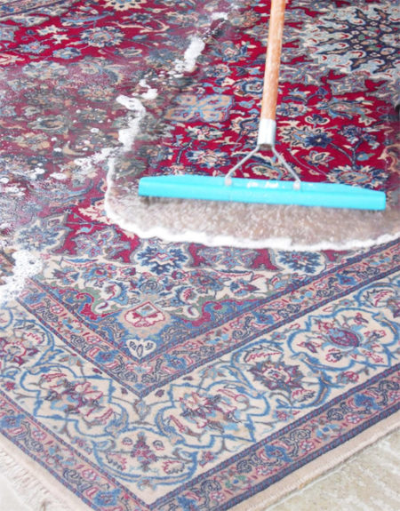 clean a persian rug |